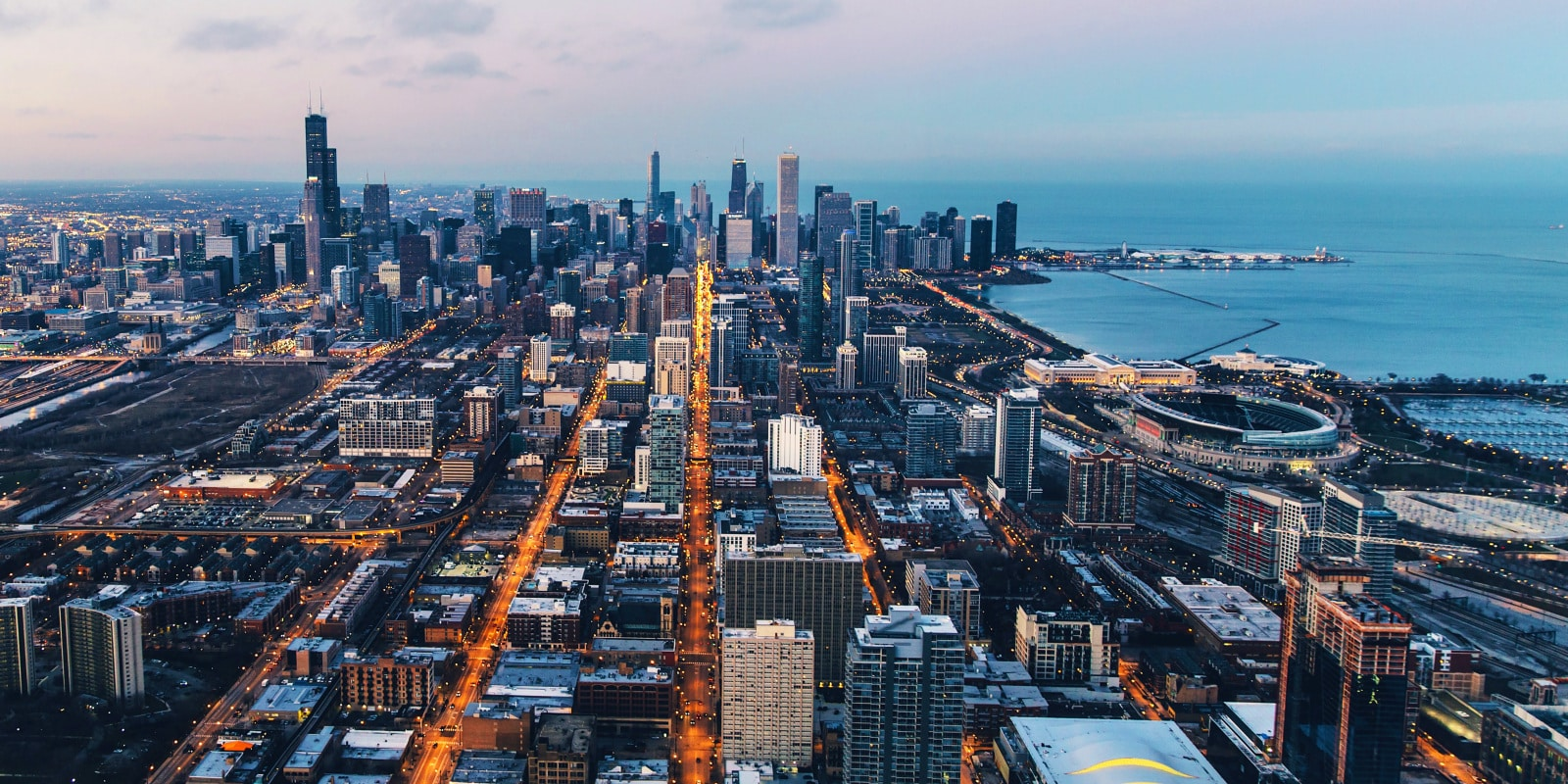 Chicago aerial view - SUA