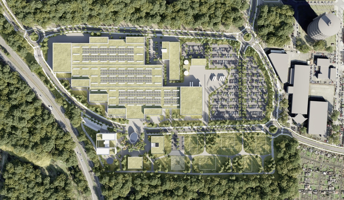 Wilopark Dortmund - Top view - 3D Rendering