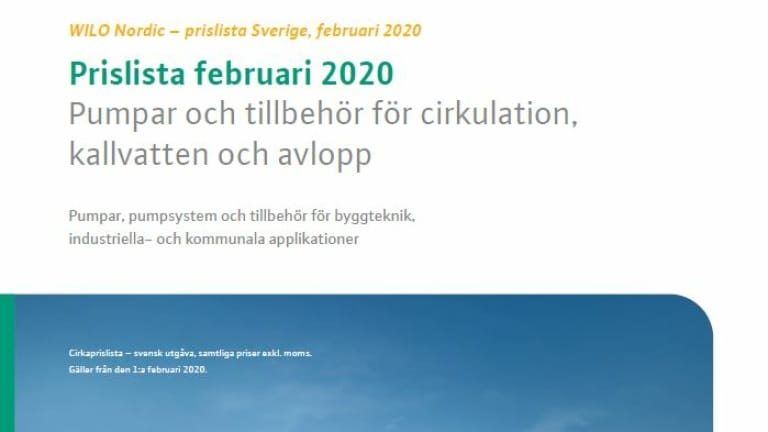 Miniature Pricelist Sweden 2020