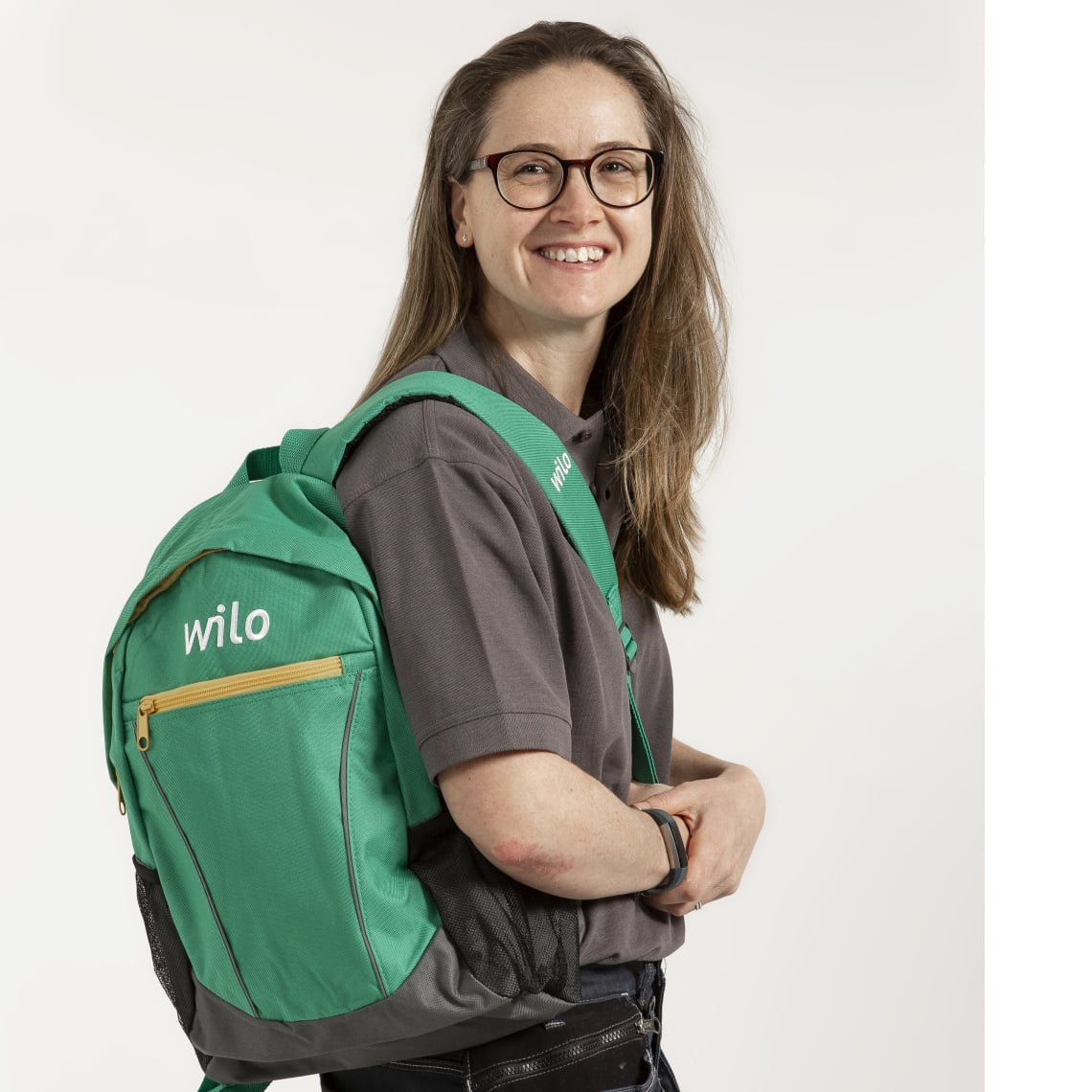 UK influencer Becky Bates with Wilo backpack