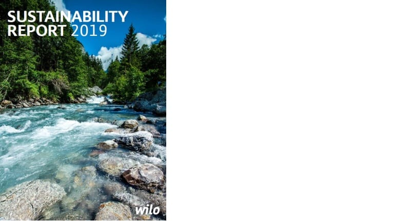 Wilo Sustainability Report 2019 cover