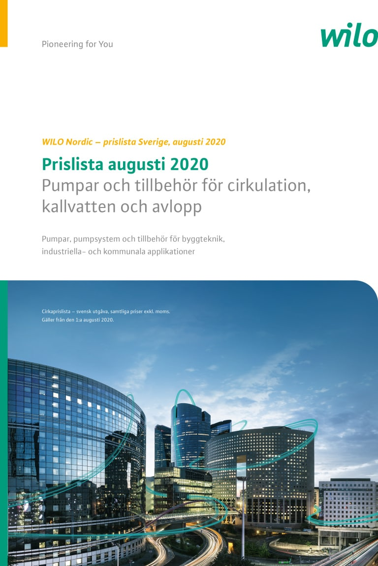 Pricelist Sweden frontpage aug 2020