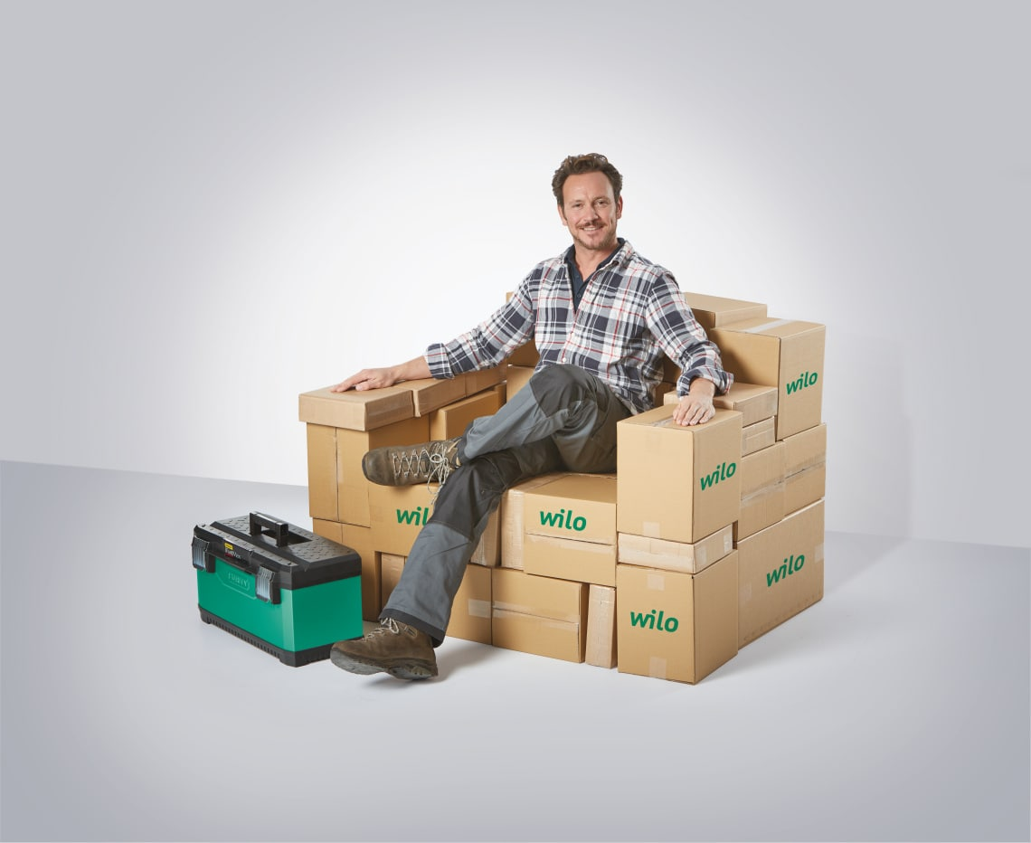 Man on Boxes